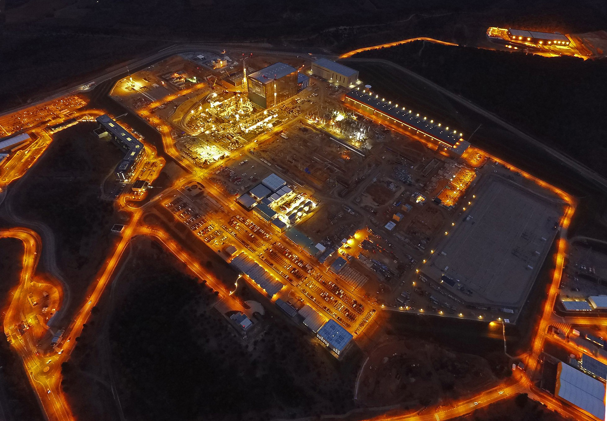 Красивое воздушное фото площадки ИТЭР