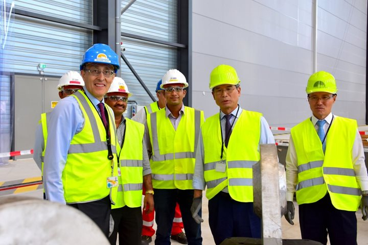 Chairman of Hyundai Heavy Industries visits ITER