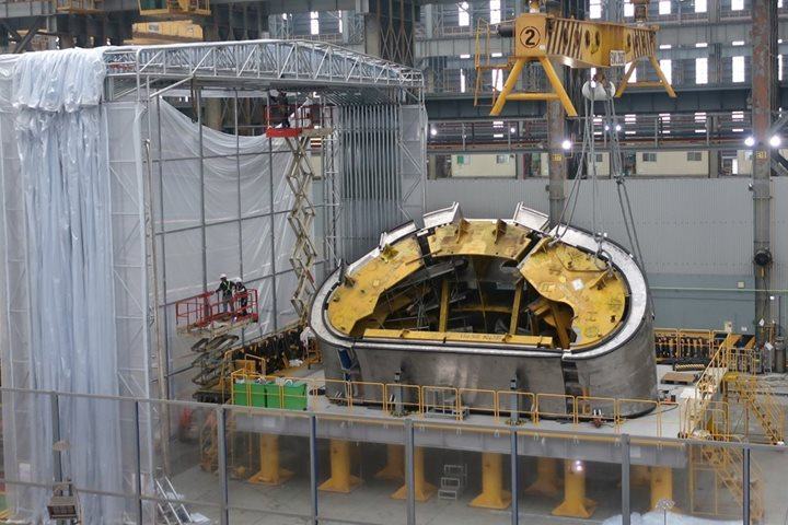 Vacuum vessel: Korean sector #6 enters final assembly phase