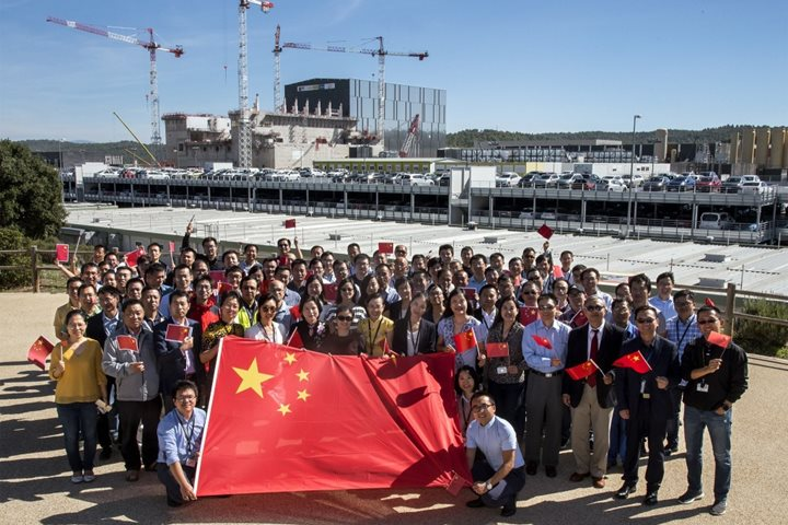 Chinese staff celebrates Republic's anniversary