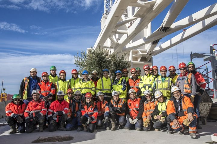 Tokamak Building: civil works completed