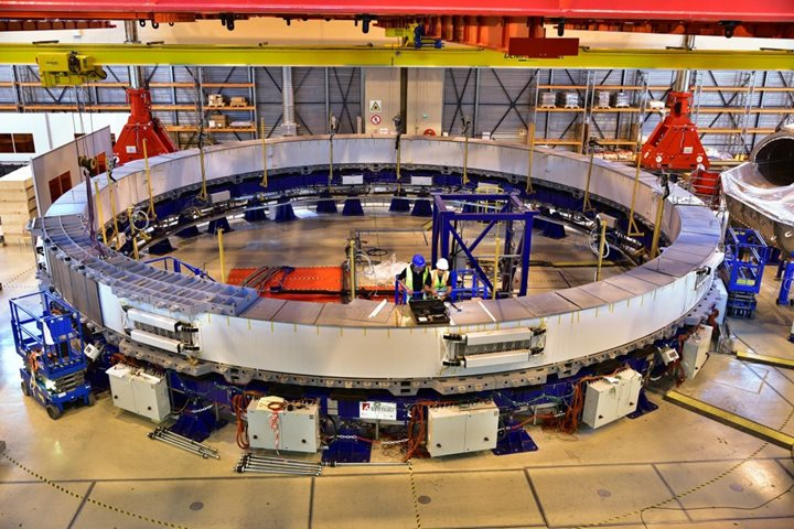 Progress on PF5—the first poloidal field coil produced on site