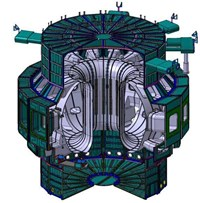 A view of the thermal shield system that will protect the vacuum vessel. (Click to view larger version...)