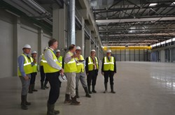 So far, only a few people have seen it from the inside. The Swedish delegation visits the Poloidal Field Coils Winding Facility. (Click to view larger version...)