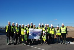 This will be the place! The ITER Cryogenic Section together with the team on the site of the future liquid helium plants. (Click to view larger version...)