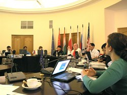 The fourth joint communication meeting was held at the Kurchatov Institute in Moscow. (Click to view larger version...)
