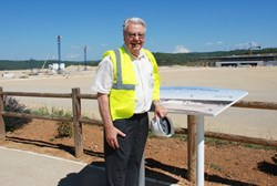 French physicist Robert Aymar pictured during a visit to the ITER site in July 2011. (Click to view larger version...)