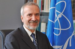 Werner Burkart, IAEA Deputy Director-General (Click to view larger version...)