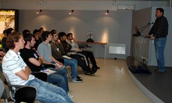 Alex Martin briefing the Spanish Master students on ITER. (Click to view larger version...)