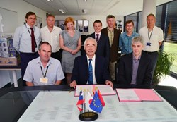 The signature represents a key milestone for both the Japanese Domestic Agency and the ITER Organization, and an important milestone for the project schedule. (Click to view larger version...)