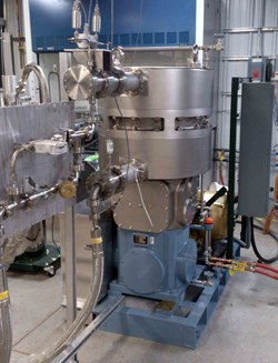 A tritium-compatible pump is part of a test stand used to assess pumping speed and pump reliability. ITER. Photo: US ITER/ORNL (Click to view larger version...)