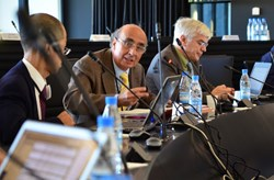 ''Seeking compromise where there is no easy solution.'' - Maurizio Gasparotto (centre), the new Chairman of the TBM Program Committee. (Click to view larger version...)