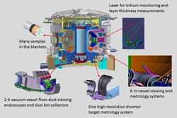 The ITER inner chamber will be equiped with all sorts of viewing, measurement, sampling and ... vacuum cleaning systems. (Click to view larger version...)