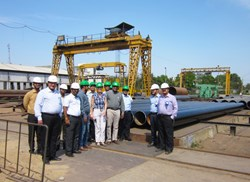 Participants from the ITER Organization, ITER-India and Larsen & Toubro travelled up to 350 km to visit subcontractor manufacturing facilities. (Click to view larger version...)