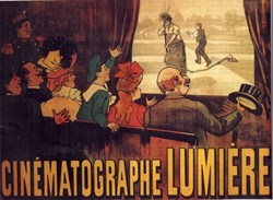 In La Ciotat, in the summer of 1895, the Lumière brothers organized the first-ever public projection of moving pictures to an audience. (Click to view larger version...)