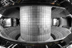 A birds-eye view of the inside of the KSTAR vacuum vessel after the installation of all the in-vessel components. (Click to view larger version...)