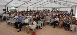 A big tent was needed to house the more than 700 people that form the ITER team in Cadarache. (Click to view larger version...)