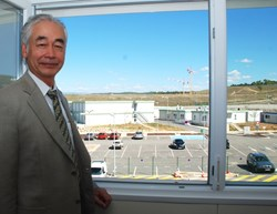 A room with an exceptional view: Osamu Motojima, Director-General of the ITER Organization. (Click to view larger version...)