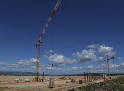 The concrete foundation for the Poloidal Field Coil Winding Facility is being put in place. © AIF (Click to view larger version...)