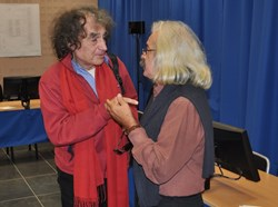''The debates we have here are good for the project and can contribute to make it better,'' says Jean Gonella (left) a math and physics professor at the Université de Provence and veteran activist. (Click to view larger version...)