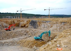 The first phase of the Tokamak excavation is nearing completion. (Click to view larger version...)