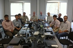 The neutron family (from left to right): Shrichand Jakhar (India), Hiro Iida (Japan), Mun-Seong Cheon (Korea), Raul Pampin (EU), Michael Loughlin (ITER), Russ Feder (US), Dieter Leichtle (EU), Masao Ishikawa (Japan), Jesus Izquierdo (EU), Eduard Polunovskiy (ITER). Taking part but not pictured Luciano Bertalot (ITER), Ulrich Fischer (EU), Alfred Hogenbirk (EU), Mahmoud Youssef (US); additional contributions from Zaixin Li (China) and the FDS Team (China). (Click to view larger version...)