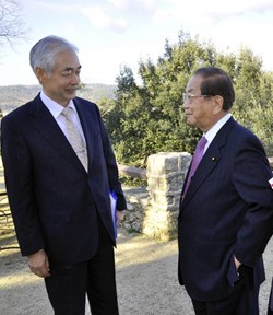 The ITER project is well-known to former minister Ohno who, as Senior Vice Minister of Science and Technology, was part of the international negotiations in the early 2000s. (Click to view larger version...)