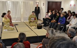''The public is flocking to our events. The theatre was filled to capacity for the tea ceremony in November,'' says Eliana Bia, the Head of Sainte-Tulle's public library. (Click to view larger version...)