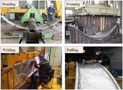 Some of the manufacturing processes tested during fabrication of the mockup. (Click to view larger version...)