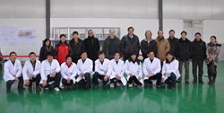 The ITER feeder meeting members and feeder construction group in Hefei, China, 17-18 February, 2011. (Click to view larger version...)