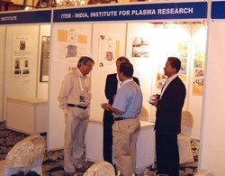 ITER-India manned a stand for poster presentations on ITER and ITER-India activities. (Click to view larger version...)