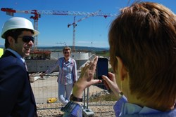 A tour around the ITER construction site was a welcome break during the meeting marathon and a unique photo opportunity for many MEP like Monika Hohlmeier, a Christian Democrat from Germany. (Click to view larger version...)