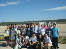 The group of civil servants from various Chinese provinces on the ITER worksite last week. (Click to view larger version...)