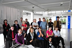 The future is three dimensional: Members of the EFDA Public Information Network watching the latest 3D fusion animation produced by the European Commission. Photo: Gieljan de Vries (Click to view larger version...)