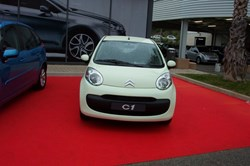 In 2009 French automaker Citroën created a light greenish beige colour for its C1 model which it named ''tritium yellow.'' (Click to view larger version...)