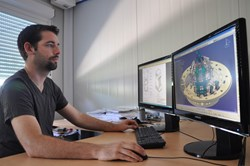 Four years into the job, thirty-year-old Baptiste Martin is a veteran among the 120 CAD designers who work for the ITER Design Office. (Click to view larger version...)