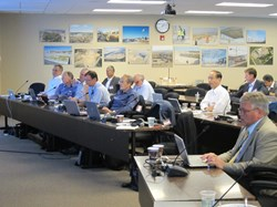 The central solenoid Preliminary Design Review this month in Oak Ridge. (Click to view larger version...)