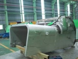 In order to verify design and manufacturing feasibility, KO-DA has fabricated the port stub extension (PSE) of nine lower ports. Currently the upper (photo) and lower parts of the inner shell are under fabrication. (Click to view larger version...)