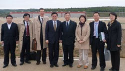 The Chinese think tank DRC visited the ITER site this week. Pictured: Jianping Zhao, Fei Feng, André Chieng, DCR President Wei Li, ITER DDG Ju Jing, Lanlan Sun, Mingxing Su (IO) and Xiheng Jiang. (Click to view larger version...)