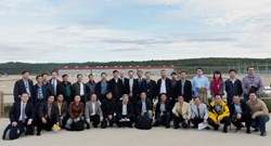 The visitors were accompanied on the ITER worksite by Jin Ju, Director of the General Administration Directorate for ITER, Su Mingxing from the Office of the Director-General, and Ivone Benfatto, Hao Tan and Joel Hourtoule from the Electrical Engineering Division. (Click to view larger version...)