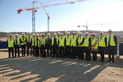 Ninth ITER Council: The delegates to the ninth ITER Council enjoyed a tour of the site works.<br /><br /> (Click to view larger version...)