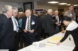 Three ''heavyweights'' of fusion research during the commemoration event for Palumbo: Robert Aymar, Francesco Romanelli and Paul-Henry Rebut (from left).© EFDA (Click to view larger version...)