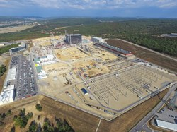 Less spectacular but just as important: all of the site adaptation works that must be carried out to support the operation of the ITER machine and systems as well as provide the required amenities for a site workforce of 2,000 people. Photo: F4E-LNM (Click to view larger version...)