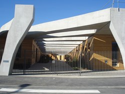 The entrance to the Provence-Alpes-Côte d'Azur International School in Manosque, France. (Click to view larger version...)