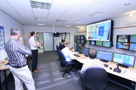 The standard work cell was implemented in a dedicated room at Oxford Technologies. (Click to view larger version...)
