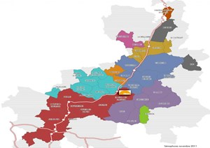 AIF has identified 41 towns and villages, most of them situated along the A51 thruway, that would be suitable for hosting ITER workers. Copyright: AIF (Click to view larger version...)