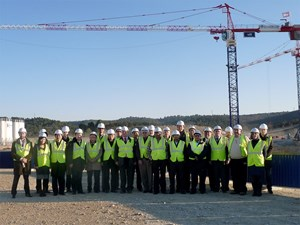 This meeting was concluded by a visit of the construction site. (Click to view larger version...)