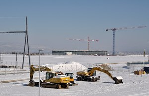 Most of Europe, and quite exceptionnaly balmy Provence (here, the ITER platform on February 1st) were under a severe cold spell last week. The French power grid operator RTE feared a collapse that, fortunately, did not happen. (Click to view larger version...)