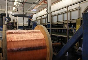 US ITER toroidal field coil conductor production requires four miles worth of niobium-tin superconducting wire. Photo: Luvata Waterbury, Inc. (Click to view larger version...)