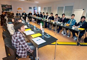 Fourteen students of ''Super Science'' high schools in Fukui Prefecture, in the Chubu region of Japan, visited ITER last Wednesday 14 March. (Click to view larger version...)